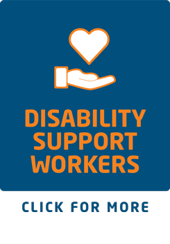 Disability support workers button